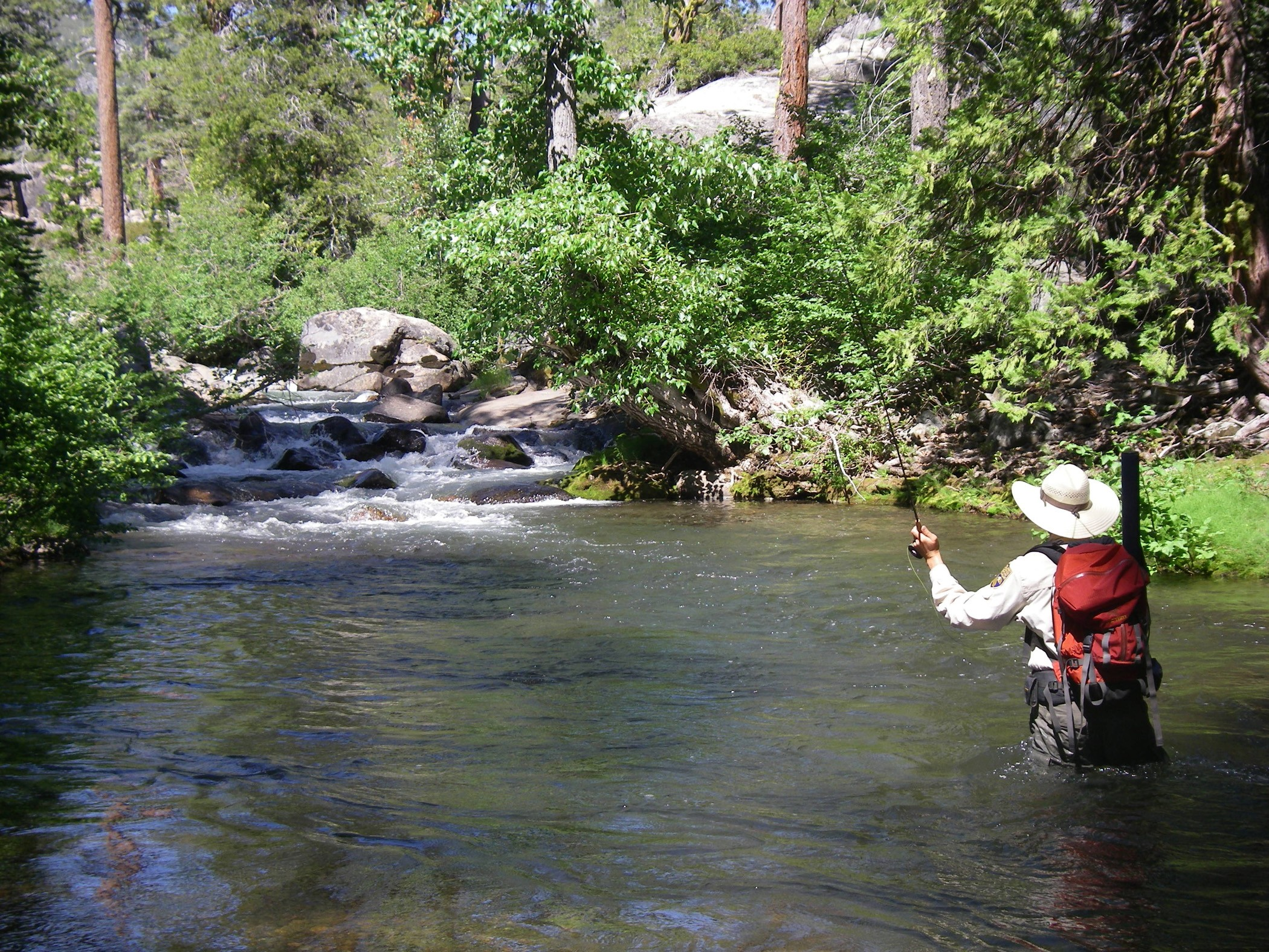 March 2009 california outdoors q and a for Trout fly fishing