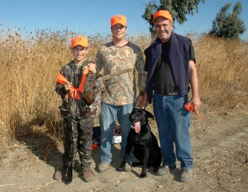 Family waterfowl hunting at the Yolo Wildlife Area Basin