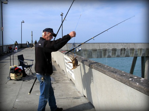 California crab fishermen who is fishing with a crab snare. (Creative Commons photo)